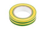 Taśma izolacyjna żółto-zielona 15 mm x 0.13 mm x 10m
