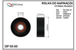 ROLKA MICRO-V NAPINAJACA CITROEN / PEUGEOT PLASTIK GLADKA 65X17X25.5 SZT OPTIMA