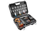 Klucz udarowy, akumulatorowy 2x18V/2.0Ah, z zestawem nasadek 1/2