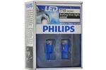 Diody T10 Philips BlueVision LED 6000K T10  12V 1W (komplet - 2szt.)