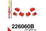 Zestaw poliuretanowy przedniego zawieszenia 50 74-78 Derby Polo I II 75-94 STRONGFLEX