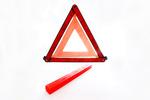 Trójkąt ostrzegawczy w małym etui - 1 sztuka