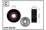 Rolka napinacza paska klinowego wielorowkowego CAFFARO 484-00 CAFFARO 484-00