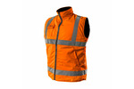 Bezrękawnik roboczy, dwustronny, jedna strona odblaskowa, pomarańczowa, rozmiar XL/56