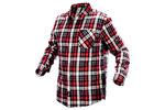 Koszula flanelowa, krata czerwono-czarno-biała, rozmiar S