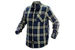 Koszula flanelowa granatowo-oliwkowo-czarna, rozmiar L