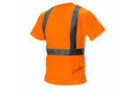T-shirt ostrzegawczy, pomarańczowy, rozmiar L