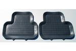 BORA/FAVORIT/CLIO/MICRA dywaniki gumowe tylne (2 szt, czarne) POLGUM