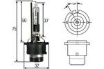 Żarnik ksenonowy D2R Hella +30% P32D-3 85V 35W