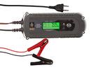 Inteligentny elektroniczny prostownik              samochodowy napięcie 12VNatężenie  2A/8A Maksymalna pojemność 160A/h  do wszystkich rodzajów akumulatorów,  wyświetlacz LCD