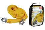 Linka holownicza z hakami, mocna i elastyczna taśma, długość 5m, uydźwig  5,0 t, pakowana - zamykana torba z tkaniny