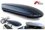 Bagażnik dachowy - box MENABO Mania 400 ABS (czarny - udźwig 75kg)