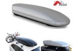 Bagażnik dachowy - box MENABO Mania 400 ABS (srebrny - udźwig 75kg)