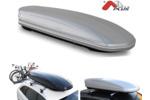 Bagażnik dachowy - box MENABO Mania 460 ABS (srebrny - udźwig 75kg)