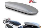 Bagażnik dachowy - box MENABO Mania 580 ABS (srebrny - udźwig 75kg)