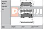 Zestaw klocków hamulcowych, hamulce tarczowe DOKUJI NC1181
