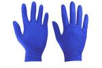 Rękawice nitrylowe bezpudrowe L - 5 par (10 sztuk) - niebieskie