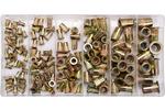 Zestaw nitonakręk stalowych m3- m10, 150 sztuk